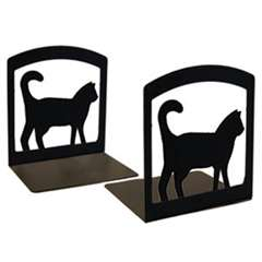 Wrought Iron Cat Bookends