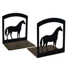 Wrought Iron Standing Horse Bookends