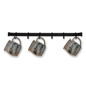 Wrought Iron Coffee Cup Rack - 24 Inch