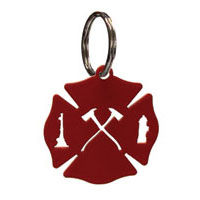 Wrought Iron Maltese Cross Key Chain