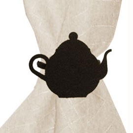 Wrought Iron Tea Pot Napkin Ring
