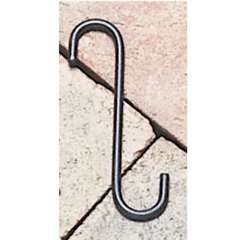 "Wrought Iron S-Hook - 4"" x 3/4"""
