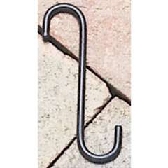 "Wrought Iron S-Hook - 6"" x 3/4"""