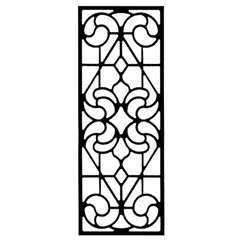 Wrought Iron Rectangular Wall Art (Style 205)