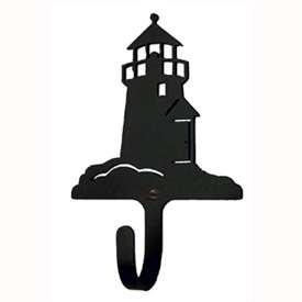 "Wrought Iron Lighthouse Wall Hook (Hook Depth measures 1/2""D)"