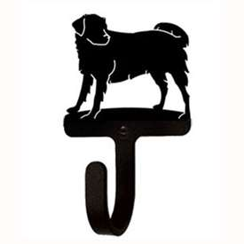 "Wrought Iron Dog Wall Hook (Hook Depth measures 1/2""D)"