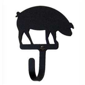 "Wrought Iron Pig Wall Hook (Hook Depth measures 1/2""D)"