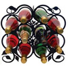 Wrought Iron Leaf Wine Rack - (holds 10 bottles)
