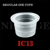 <!012>13mm Medium Standard Clear Ink Cups -BAG OF 1000