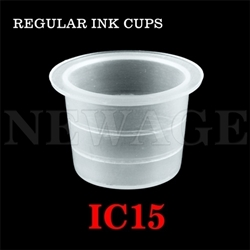 <!013>15mm Large Standard Clear Ink Cups -BAG OF 1000