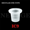 <!011>9mm Small Standard Clear Ink Cups -BAG OF 1000