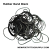 <!050>Black Rubber Band -BAG OF 100
