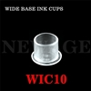<!021>10mm  Small Clear Wide Base Ink Cups -BAG OF 1000