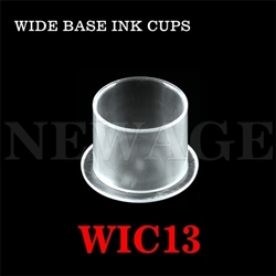 <!022>13mm  Small Clear Wide Base Ink Cups -BAG OF 1000