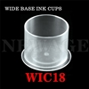 <!024>18mm  Large Clear Wide Base Ink Cups -BAG OF 500