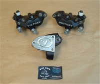 Cross Country Front Brake Calipers & Master Cylinder Set