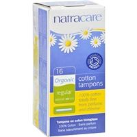 Natracare 100% Organic Cotton Tampons
