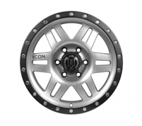 "Icon Six Speed Satin Black & Machined Finish 17"" Wheel"
