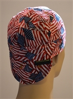 Welding hat or cap American Flags of the USA with Pride in Red, White and Blue Flags.