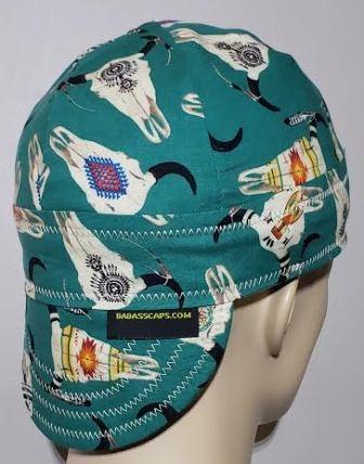 #19 Flame Skulls Welding Caps  Reversible 100/% Cotton Welding Cap Made in Usa