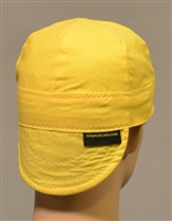 welding hat yellow in color 6 panel and reversible