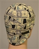 money welding hat  with cash and 100 dollar bills American currency.