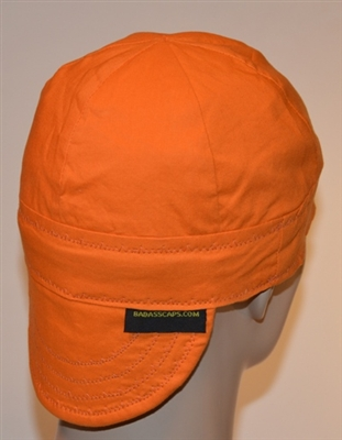 Orange welders cap or hat hunters color or hunting.