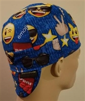 emoji blue welding hat