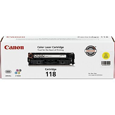 Canon 118 for the Imageclass MF8350cdn,  MF8380cdw, LBP 7660 Series - Yellow