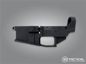Engraved AR-15 Billet 6061-T6 80% Lower | Black Anodized