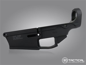 Engraved AR-10 80% Lower - Billet 7075-T6 - Black Anodized
