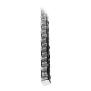 "Bar Hammered Sq Heavy Corner & Side 5/8"" 10'L"