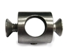 "Round Bar Holder for Flat Bar Newel Post with a 13/32"" Dia. Hole"