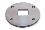 "Stainless Steel Flange 3 15/16"" and 1 19/32"" by 1 19/32 hole"
