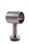 "Stainless Steel Handrail Support 2 3/4"" Dia. x 1/2"" Dia., Pivotable, for Tube 1 1/2"" Dia."