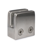 "Stainless Steel Glass Clamp 1 3/4"" x 1 3/4"" x 1 3/32"" for Flat Tube"