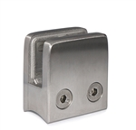 "Stainless Steel Glass Clamp 1 3/4"" x 1 3/4"" x 1 3/32"" for 1 7/8"" Tube"