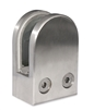 "Stainless Steel Glass Clamp 1 3/4"" x 2 31/64"" for Flat Tube"