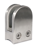 "Stainless Steel Glass Clamp 1 3/4"" x 2 31/64"" for 1 2/3"" Tube"