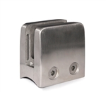"Stainless Steel Glass Clamp 2 11/64"" x 2 11/64"" for 1 2/3"" dia. Tube"