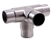 "Stainless Steel 4-Way Corner Fitting 1 2/3"" Dia. x 5/64"""