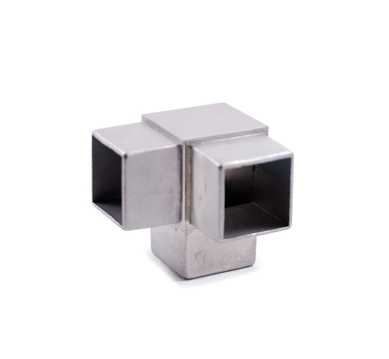 Aluminum tubing fittings for square