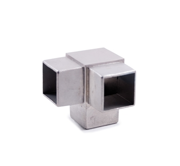 "316 Stainless Steel Fitting for Square Tube 1-9/16"" by 1-9/16"""