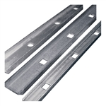 "PUNCHED CHANNEL (H) 1-1/2""X1/2""X1/8"" SQ HOLE 13/16"