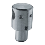 "Galvanized Steel Round Bar Holder 1/2"" Dia. Hole f"
