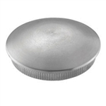 "Galvanized Steel End Cap Rounded For Tube1 2/3"" Di"