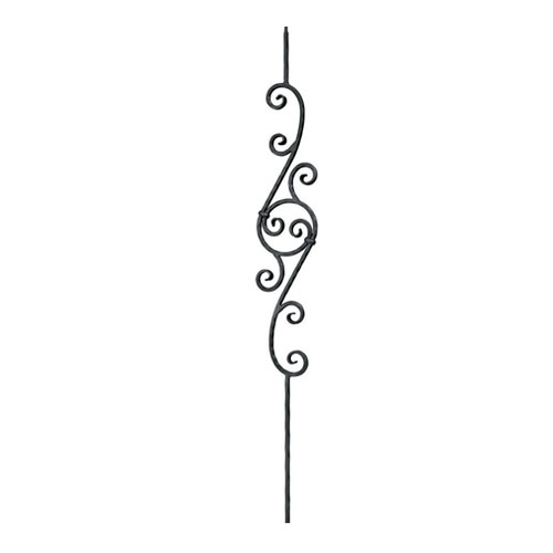 Simple wrought iron designs - Indital Scroll Design 1 2 Quot Sq 7 3 4 Quot Wide Scroll Balusters