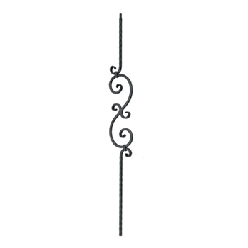 "Scroll design, 1/2"" sq. x 5 5/16"" wide"