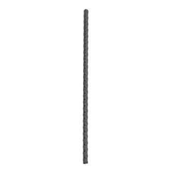 "Hammered newel post, 1 3/16"" sq."