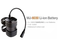 MJ-6030 Battery (Now MJ-6038B):  7.4V li-ion, 5600mAH
